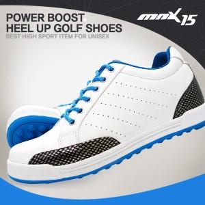 MNX15 남여공용 스파이크리스 키높이 골프화5cmGM002 화이트(GM002white)