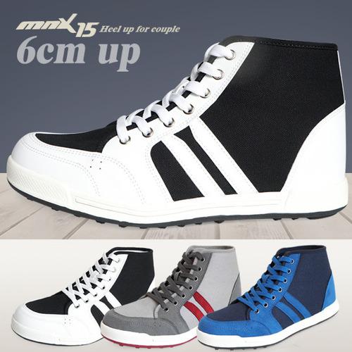MNX15 남여공용 키높이스니커즈 6cm오스카 블랙(oscar black)