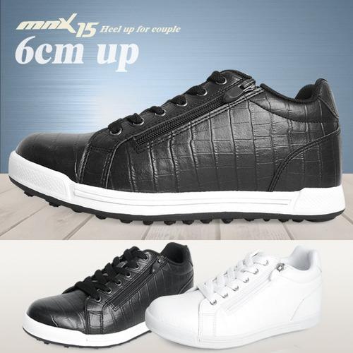 MNX15 남여공용 키높이스니커즈 6cm루나 블랙(lunablack)