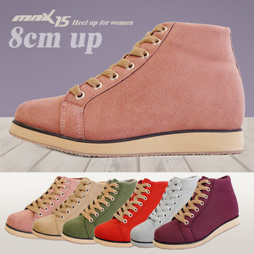 MNX15 여성용 키높이운동화8cm 모나코 핑크(monacopink)