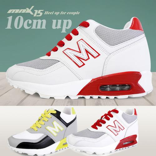 MNX15 남여공용 키높이운동화10cm쿠퍼 레드(cooperred)